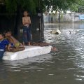 Kondisi Banjir di Jalan Patra Raya, Kebon Jeruk, 21 Januari 2014 - Pkl. 15.09