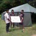 Serah terima bantuan Tenda dan kebutuhan pengungsi banjir @ Balaraja, 26 Januari 2014