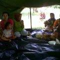 Pengungsi banjir Balaraja berteduh di tenda sumbangan Umat MBK @ Balaraja, 25 Januari 2014