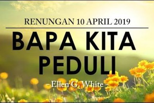 Rabu, 10 April 2019
