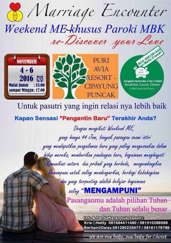 Weekend Marriage Encounter MBK