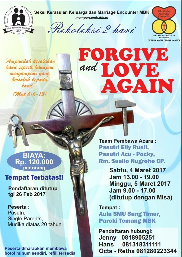 Rekoleksi FORGIVE and LOVE AGAIN