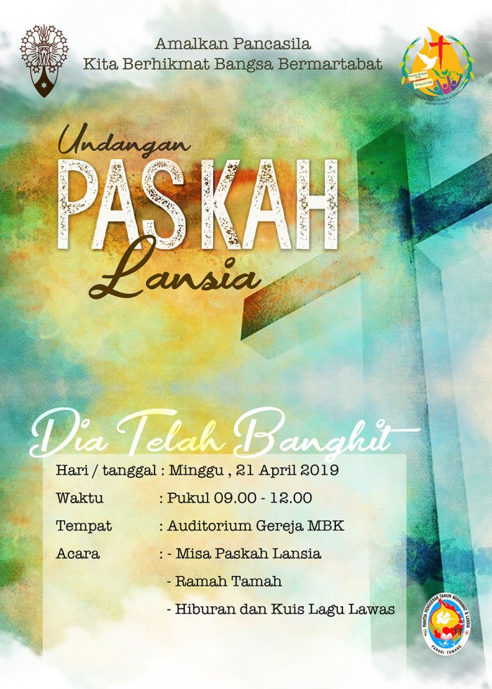 Undangan Misa Paskah Lansia 2019